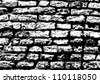 Grunge white and black brick wall background - stock photo