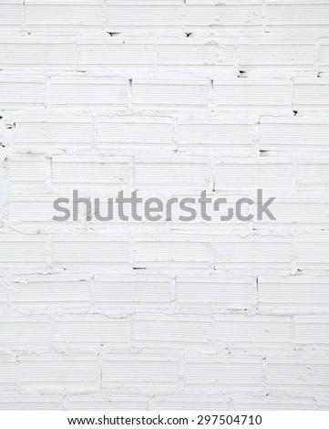 grunge white brick wall - stock photo