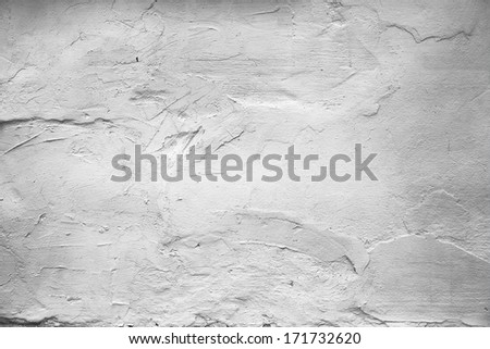 grunge white paint wall background or texture  - stock photo