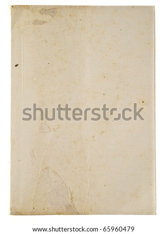 Grunge white's cover notebook isolated on white background - stock photo