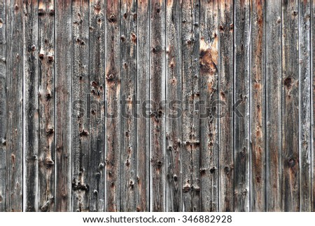 Grunge wood board used as background and texture - stock photo