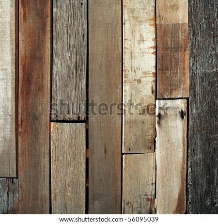 grunge wood plank background - stock photo