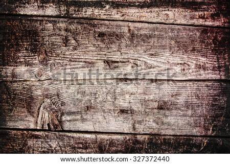 Grunge wooden background - stock photo