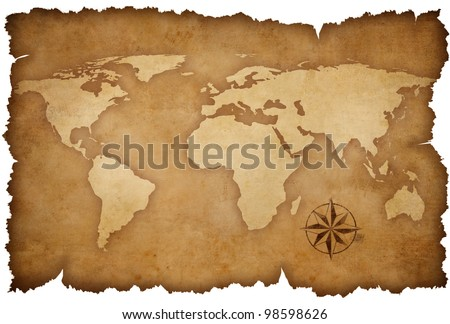 Grunge world map background rose compass stock photo 98598626 grunge world map background with rose compass gumiabroncs Gallery