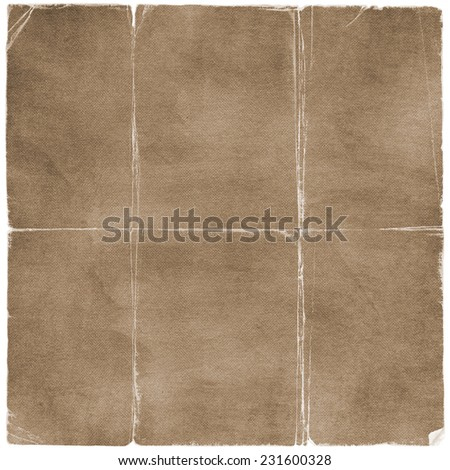 Grunge worn canvas of fabric and paper texture - stock photo