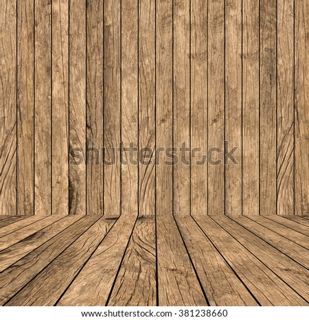 grunge yellow brown cream of wood stripe with wooden panel plank perspective background:vintage of plywood tile backdrop with tabletop:show/advertising/promote product/goods on display:room interior - stock photo