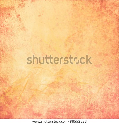 grunge yellow canvas as texture or background - stock photo