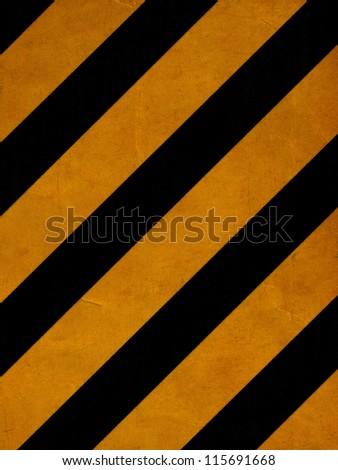 grunge yellow lines - stock photo