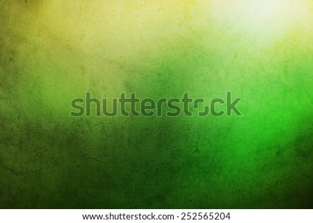 grunge yellow to green gradient abstract background - stock photo