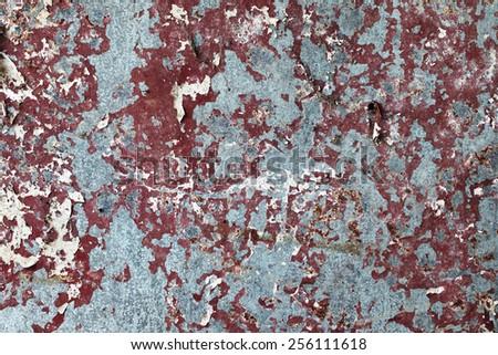 grunge zinc wall - stock photo