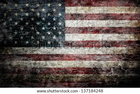 Grungy american flag background. - stock photo