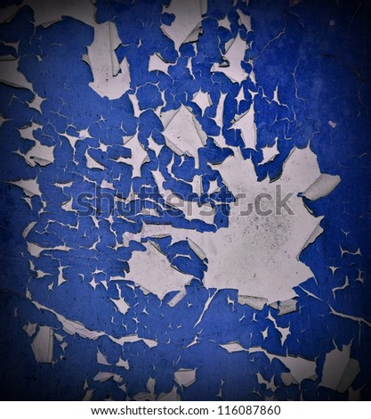 Grungy and cracked  wall texture - stock photo