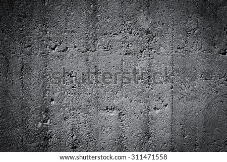Grungy and smooth bare concrete wall for background texture - stock photo