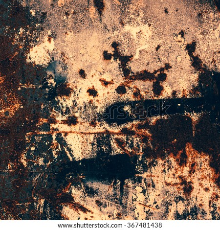 Grungy background with space for text or image. Dark vintage wall - stock photo