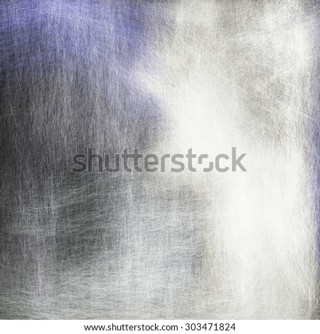 grungy black and white background with blue corner, detailed fine brush strokes, gray background canvas with bright white color splash - stock photo