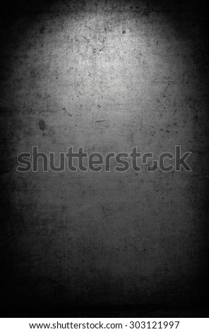 Grungy black concrete wall background