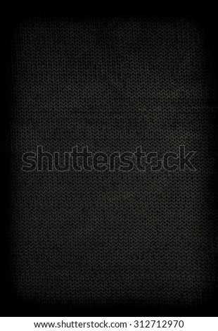 Grungy black concrete wall background - stock photo