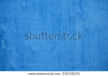 Grungy blue wall background - stock photo