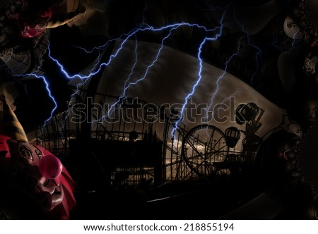 Grungy Carnival Abstract - stock photo