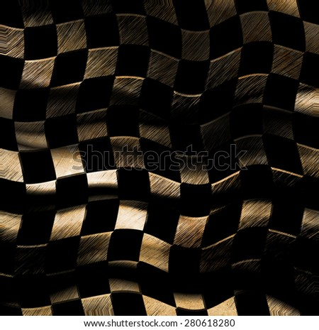 Grungy chessboard background - stock photo