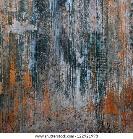 Grungy concrete texture with wood shuttering carved on it - stock photo