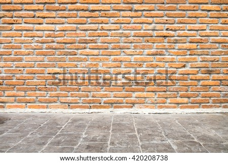Grungy concrete wall and floor. - stock photo