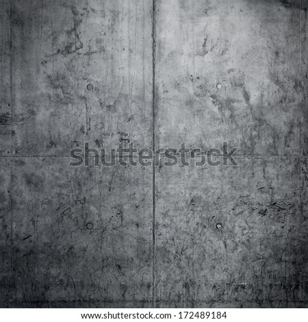 Grungy concrete wall and floor as background - stock photo
