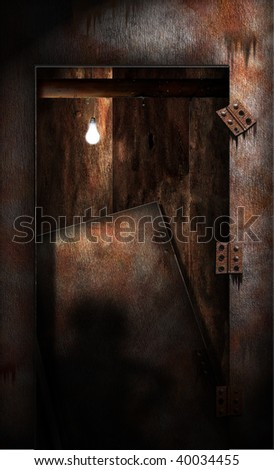 Grungy Decaying Doorway