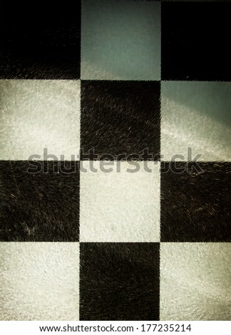Grungy dotted chessboard background with stains - stock photo