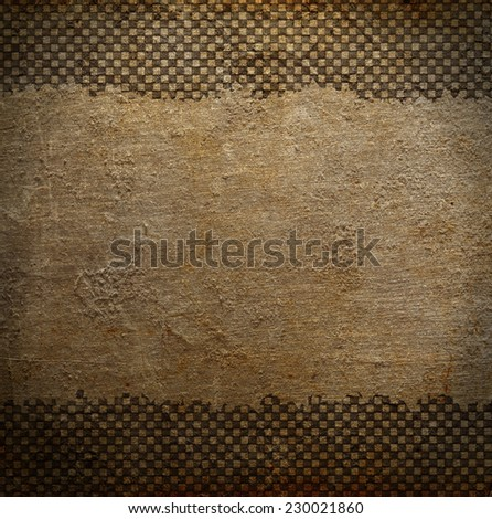 Grungy dotted chessboard background with stains