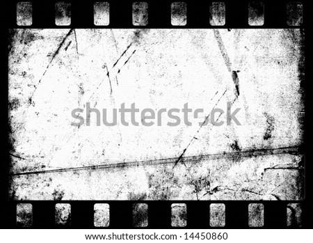 Grungy Film Frame - stock photo