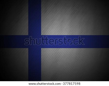 Grungy Finnish Flag - stock photo