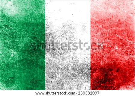 Grungy Flag of Italy