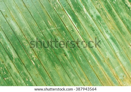 Grungy green wooden fence texture. BAckground and texture. - stock photo