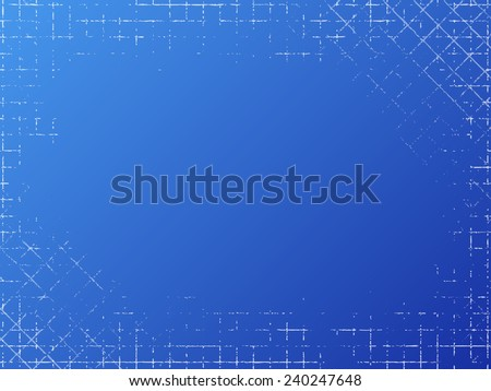 Grungy industrial texture on blue background.