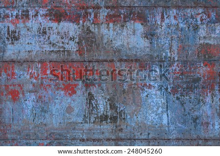 Grungy Metal Texture with Seams (Part of Grungy Textures with Rusty Seams set, which includes textures that can be used together to create a huge image) - stock photo