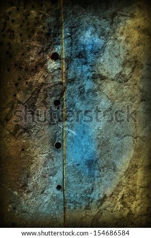 Grungy Modern Background in Yellow and Blue - stock photo