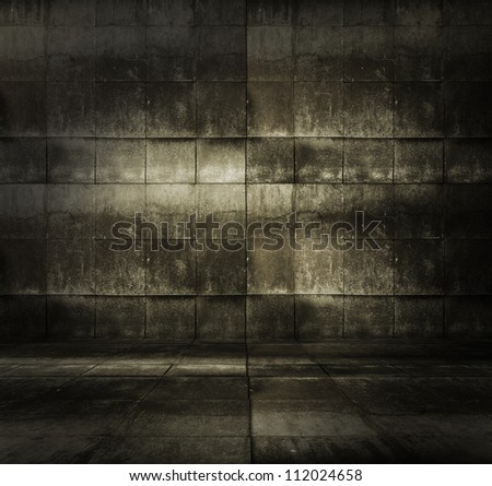 grungy modern interior - stock photo