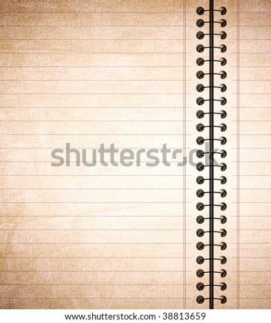 Grungy notepaper