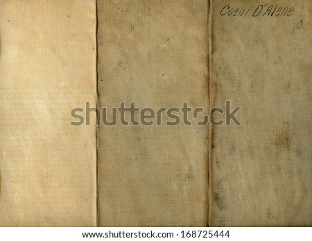 Grungy Old Folded Fabric with Coeur d'Alene - stock photo