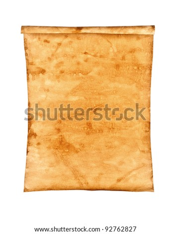 Grungy Old Paper on white background isolated