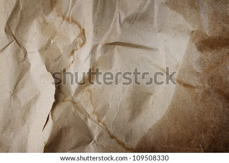 Grungy paper background design element - stock photo