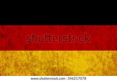 Grungy paper flag of Germany