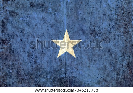 Grungy paper flag of Somalia - stock photo