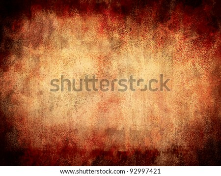 Grungy Parchment Background. - stock photo