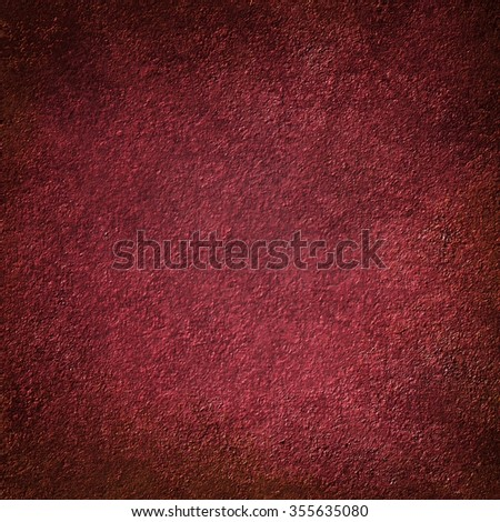 grungy red background with black vignette border and vintage grunge texture - stock photo