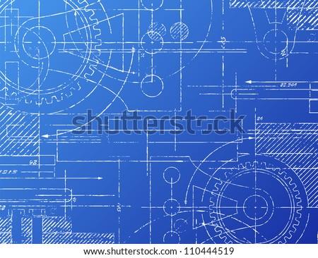 Grungy technical blueprint illustration on blue stock illustration grungy technical blueprint illustration on blue background malvernweather Gallery