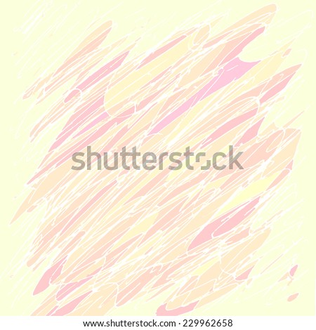 Grungy texture wade with pen strokes. Colorful abstract background. - stock photo