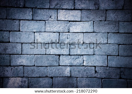 Grungy textured brick and stone wall