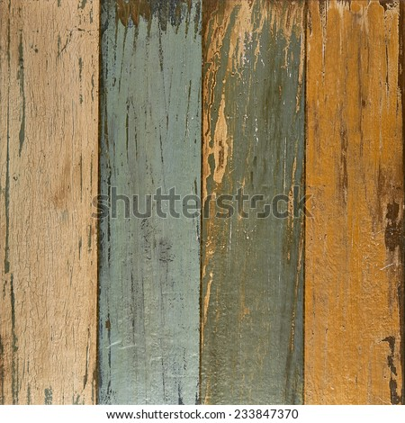 Grungy textured plank background - stock photo